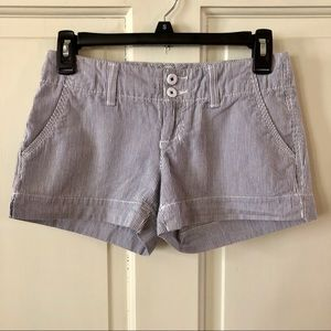 Cotton Pinstripe Shorts